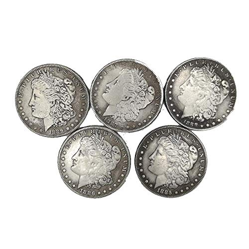 YunBest Morgan Silber-Dollar-Münzen (1885-1889), Silber-Dollar, USA altes Original Pre Morgan Dollar Münzen BestShop, 1885-1889 -