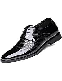 CSDM Nueva Inglaterra hombres de negocios piel de piel de cuero genuino punta dedo del pie zapatos de gran tamaño único zapatos de boda casual , black , 38