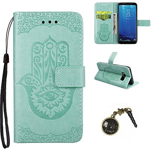 Preisvergleich Produktbild Galaxy S8 Hülle,PU Leder Hülle für Samsung Galaxy S8 Tasche Schutzhülle Handyhülle + Stöpsel Staubschutz (9)