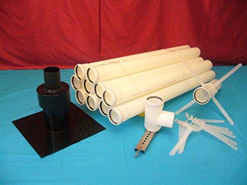 Preisvergleich Produktbild Kunststoffabgasanlage aus PP (Polypropylen) 10 Meter