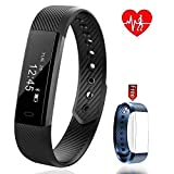 Pingko Fitness Tracker,Heart Rate Monitor,Waterproof Activity Tracker Pedometer Step Counter Watch Portable Call Reminding Sleep Monitor with Touch Screen Smart Wristband for Android iOS Phone