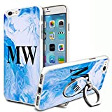 Blue Marble Personalised Phone Case Cover & Ring Stand For
