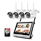Jennov 4 Channel Full HD 1080P CCTV Home IP Wireless Security Camera System
