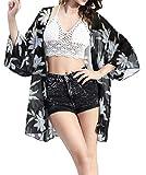 Nicetage Femmes Fleuri Motif Eté Natation Plage Swim Cover ups Boho Chiffon Kimono Cardigan pour Bikini Coverup Châle