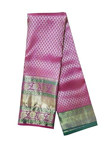 Pure Pattu Saree, Hot Pink Color Hand Woven Saree (Pure pattu, High...