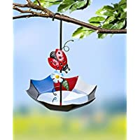 Umbrella Shape with Ladybird Hanging Bird House Bird Feeder–Bird Feeder–Bird Feeder–Bird Table Feeding Station–Food–Bird Feeder–Bird Feeder House–Bird Feeder–Bird Feeder Ornament–32x 22x 22cm