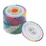 480Pcs Multi Round Testa di Perla Spille per Matrimoni Matrimoni Corsage Fioristi Strumenti di Cucito Donne Mini Ball Accessori Artigianali Fatti a Mano - Multicolor