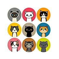 Funcoo 288 Lovely Cute Cat Rabbit Envelope Label Seal Decorative Sticker Scrapbooking Craft Sticker for Home, Office, Wedding