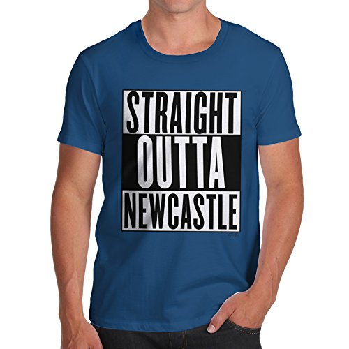 Herren Straight Outta Newcastle T-Shirt Königsblau