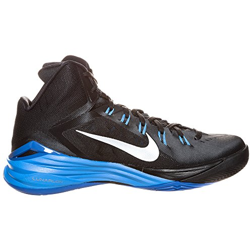 Nike Hyperdunk 2014, Chaussures de Sport-Basketball Homme Black / Metallic Silver-Photo Blue