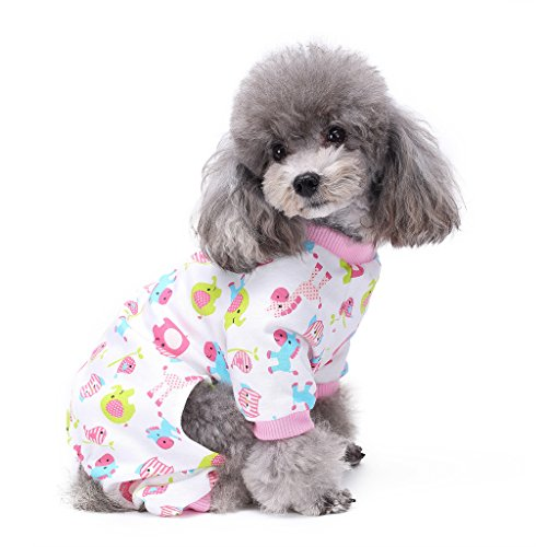 s-lifeeling Hund Kostüme Outfit Little rot Pferd Muster, angenehm Puppy Schlafanzug weich Hund Jumpsuit Shirt Best Geschenk 100% Baumwolle Mantel für kleine und mittlere Hunde