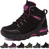 BOLOG Outdoor Wanderschuhe Sport Low Rise Anti-Rutsch Kletterschuhe leicht atmungsaktiv Trekking Herren Damen Schuhe, Schwarz - Black Pink-1 - Größe: EU 37