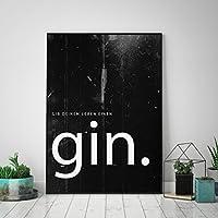 Typo Poster: gib Deinem Leben einen Gin, black edition