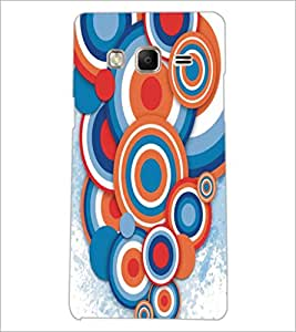 PrintDhaba Circular Pattern D-5293 Back Case Cover for SAMSUNG Z3 (Multi-Coloured)