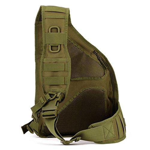 cinmaul militare tattico petto pack Borsa MOLLE Zaino Grande borsa a tracolla Crossbody petto Duty Gear per escursionismo e campeggio trekking, Uomo, CP Camouflage Coyote Brown