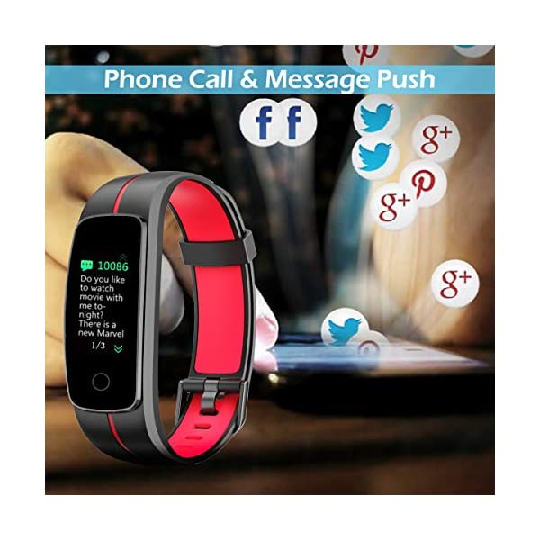 CHEREEKI Pulsera Actividad, Fitness Tracker IP68 Impermeable Monitor de Frecuencia Cardiaca 14 Modos de Ejercicio/Control de Música/Cronómetro/Recordatorio Sedentario/SMS Push 6