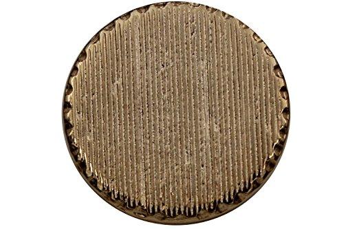 Hartmann-Knöpfe 6 Stück, gold glänzende Metall-Ösenknöpfe, mit Rillen, flach, 15mm, 18mm, 20mm (Gold Kostüme Rille)