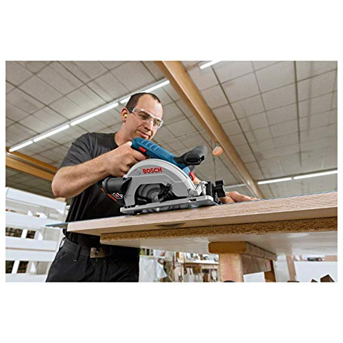 Bosch Professional GKS 18V-57 G Akku-Kreissäge, mit 2 x 18 V 5,0 Ah Akku, Schnitttiefe: 57 mm (bei 90°), L-Boxx, 06016A2100 - 5
