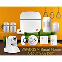 eyes4u WiFi inalámbrica GSM SMS Android IOS App Principal Bullnet vídeo Sistema de alerta de seguridad Detector de metales con cámara IP Medical mergency botón