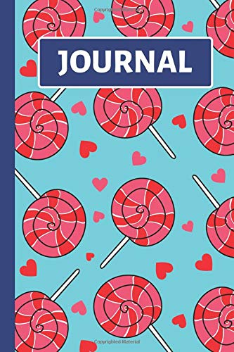(Journal: Kids Notebook: Blue, Red and Pink Lollipop and Heart Design)