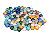 NPRC 50 Pcs Colorful Decoration Shooter Marbles Boulder Glass Swirl Assortment Game