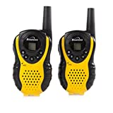 Binatone Latitude 100 Twin Black/Yellow Walkie Talkie - Upto 3 km Range Depending On Environment/Terrain,Volume Control,Ergonomic Design,Belt Clip And Low Battery Indicator.Ideal For Hiking,Skiing And All Outdoor Uses - Binatone - amazon.co.uk