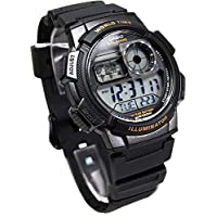 Casio Boys Digital Watch, Digital Display and Rubber Strap AE-1000W