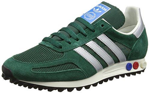 adidas Herren LA Trainer OG Sneakers, Grün (Collegiate Green/Matte Silver/Collegiate Green), 41 1/3 EU (Trainer Grün)