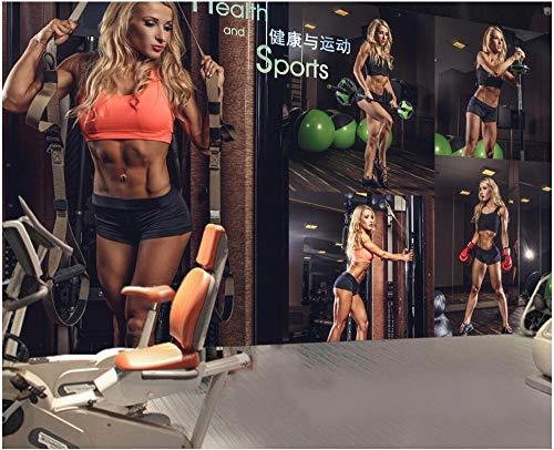 Wxlsl 3D Tapete Benutzerdefinierte Foto Gymnastik Fitness Sexy Schöne Frau Arbeit Outfit Hintergrund 3D Wandbilder Tapete Für Die Wände 3D-250cmx175cm