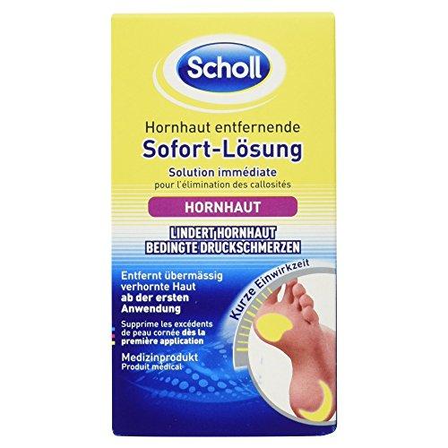 Scholl Hornhaut entfernende Sofort-Lösung, zur Fußpflege, gegen Hornhaut, 1er Pack (1 x 50 ml)