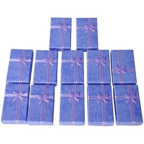 SODIAL(R) 12 x Caja de Regalo para Colgante Pulsera Pendientes