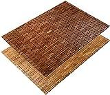 Tappeto Bamboo Bagno - Tappetino Bambu con Struttura in Legno Flessibile a Piccoli Listelli, Drenante, Antiumido, Anche per Doccia e Sauna - Marrone - 60x90 cm