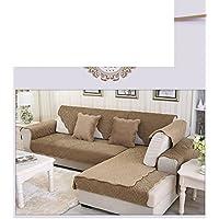 Semplice moderno in pelle antiscivolo più spesso tinta peluche divano