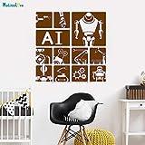 zhuziji Robot Inteligente Etiqueta de la Pared Decoración del hogar Ciencia y tecnología Escuela Empresa Oficina Oficina Autoadhesivo Etiqueta Linda 88A-4 56 cm x 56 c