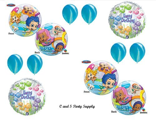 Bubble Guppies #2 Birthday Party Balloons Decorations Supplies NEW! by Qualatex (Party Guppy Bubble Supplies)