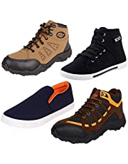 Bersache Men Combo Pack of 4 Casual Sneaker with Loafer Shoe