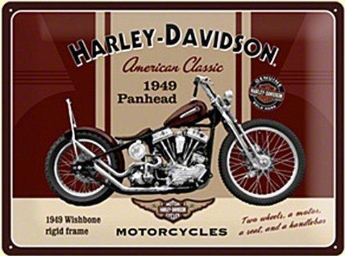 HARLEY DAVIDSON PANHEAD CON EL LOGOTIPO ENVEJECIDO METAL SIGN 400MM X 300MM (NA)