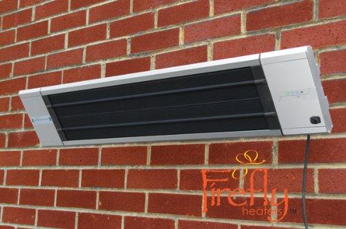 Primrose Firefly 1.800 Watt Infrarot-Dunkelstrahler, Terrassenheizung Wandmontage, 2 Leistungsstufen, inkl. Zeitschaltuhr und Fernbedienung