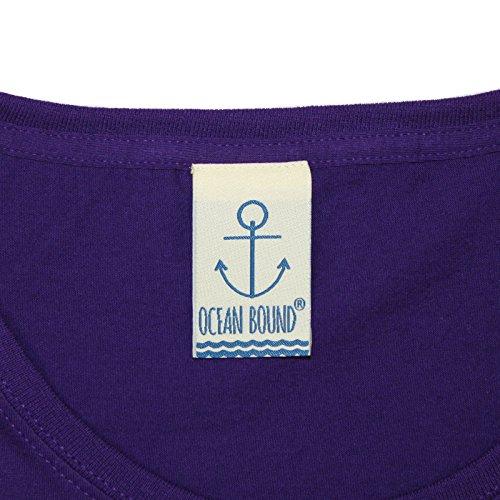 Ocean Bound - T-shirt - Slogan - Manches Courtes - Femme Violet