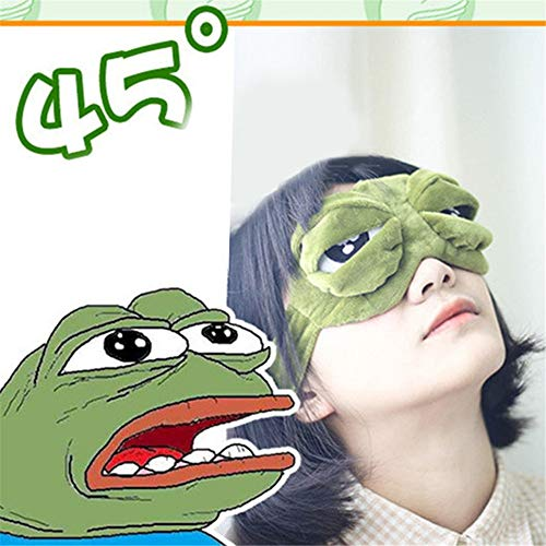 NOTE 3D Sad Frog Sleep Mask Cute Rest Travel Relax Sleeping Aid Blindfold Ice Cover Eye Patch Sleeping Mask Anime Cosplay Costumes