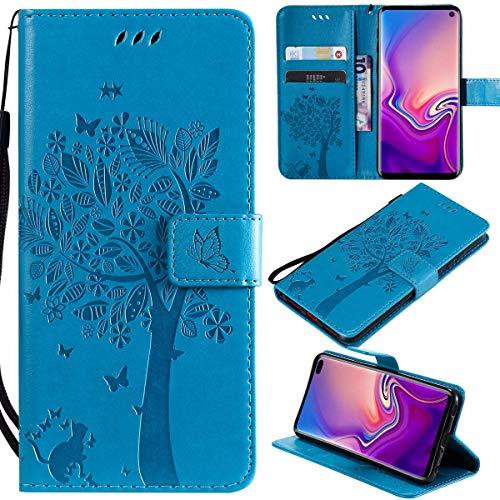 Kihying Hülle für Huawei Ascend Mate7 Hülle Schutzhülle PU Leder Flip Wallet Fashion Geschäft HandyHülle (Blau - KHT06)