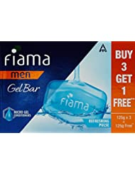 Fiama Men Refreshing Pulse Gel Bar - 125g (Buy 3 Get 1 Free)