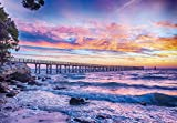 VLIESFOTOTAPETE FŰR DIE ECKE Fototapete Tapete Wandbild Vlies | Welt-der-Träume| Sonnenuntergang über dem Meer | VEEXXL (624cm. x 219cm.) | Photo Wallpaper Mural 10514VEEXXL-AW | Natur Landschaft See Meer Ozean Strand Maritim