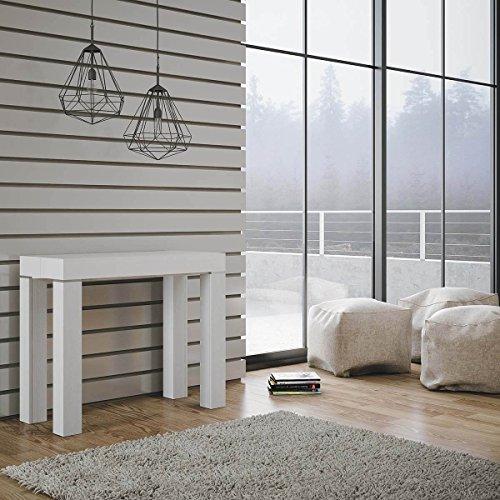 itamoby Consolle Allungabile in Legno H77x40x90/300cm Magic Color Bianco Frassino Classica