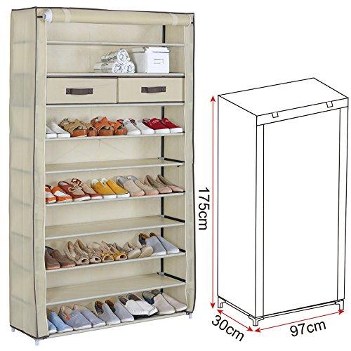 preisvergleich woltu ss5028cm schuhschrank stoff 10 ebene willbilliger. Black Bedroom Furniture Sets. Home Design Ideas
