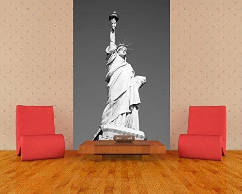 Bilderdepot24 Papier Peint intissé Statue de la Liberté - New York USA - Noir et Blanc 130x200 cm- Vente directe Fabricant!