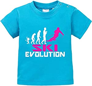 EZYshirt® Ski Evolution Baby T-Shirt