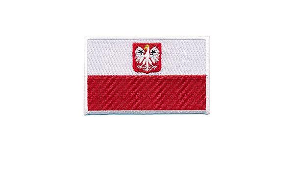 80 X 50 Mm Polen Flagge Polska Poland Flag Patch Aufnäher Aufbügler 0660 X Auto