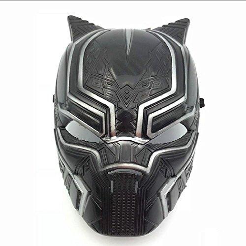Morningsilkwig pantera nera maschere halloween partito maschera bambino maschere cosplay maschera nero (s, black)