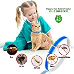 u-picks dog flea collar,6 months flea and tick control protection for dogs cats,adjustable size&waterproof,stop pest bites&itching(blue) U-picks Dog Flea Collar,6 Months Flea and Tick Control Protection for Dogs Cats,Adjustable Size&Waterproof,Stop Pest Bites&Itching(Blue) 51lEfMqm32L